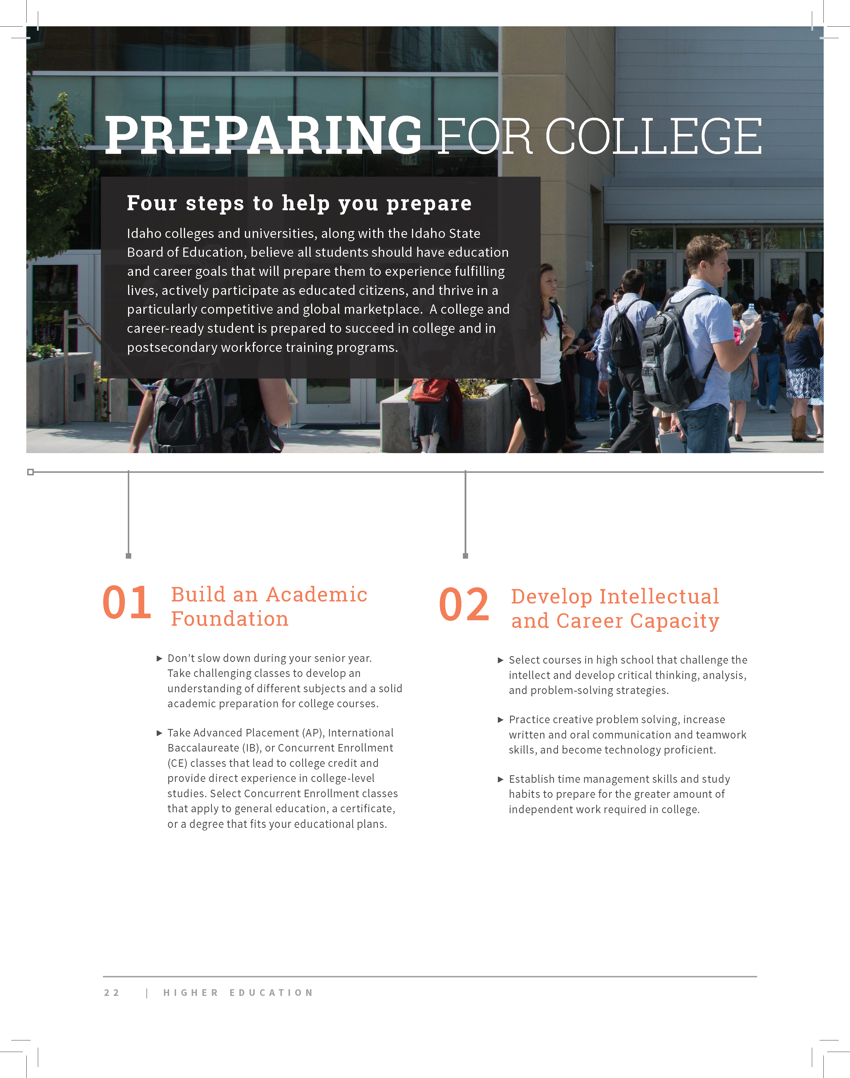 portfolio: higher education booklet – emma rose morgan, University Of Idaho Presentation Template, Presentation templates
